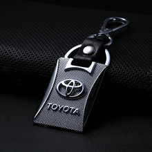 For Toyota Car Logo Keychain KeyRing For Toyota Avensis Corolla Prius Camry Vitz RAV4 Auto Key Parts Holder Car Emblem Styling