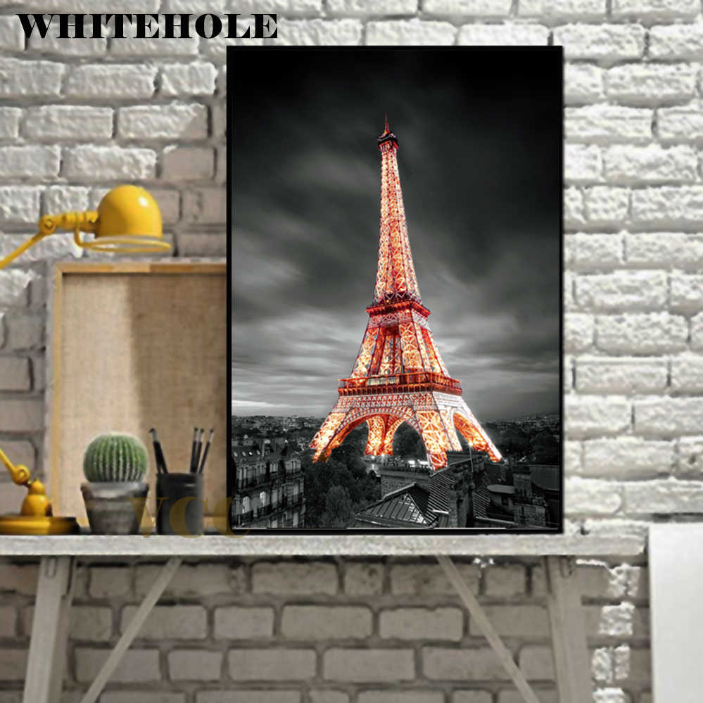 Wall Art Canvas Painting Paris Eiffel Tower Picture Posters and Prints Poster Wall Pictures For Living Room Home Decor