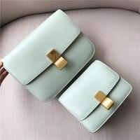 Высокое качество Кроссбоди натуральная кожа закрылков сумка Для женщин Shouder сумка маленькая Мода светло зеленый