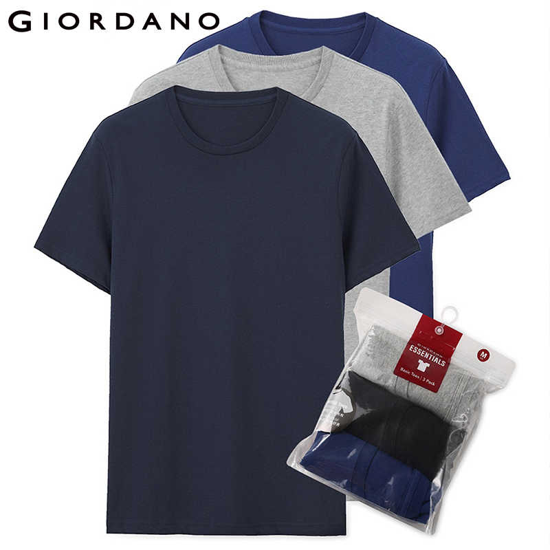 Giordano los hombres T camisa de manga corta de los hombres 3-pack camiseta para hombres algodón para hombre Camiseta verano T camisa de los hombres ropa Sous Vetement Homme