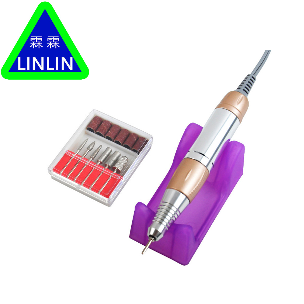 Image 3 - LINLIN 30000RPM Electric Drill Nail Art Polisher Tool Bit Machine Manicure Pedicure Kit Sand Band Accessory Nail polisher-in Sets & Kits from Beauty & Health