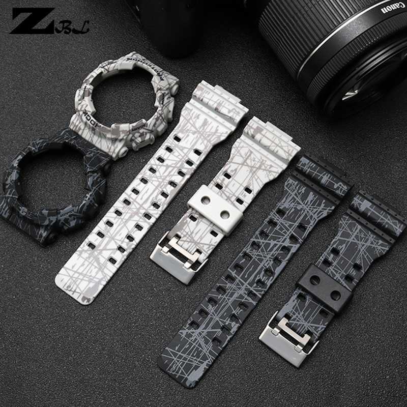Silicon Rubber Bracelet For Casio G-shock GD GLS GA -100 110 120 Watch Band Convex Strap Watchband And Case Rubber Watch Strap