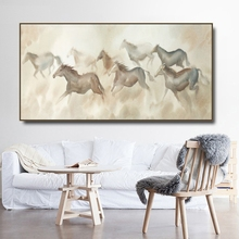 Group horse Pentium Chinese Canvas Painting & Calligraphy Poster Print Living Room House Wall Decor Art Home Decoration Picture