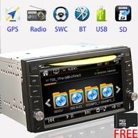 2 DIN Автомобильная dvd навигационная система автомобиля Стерео Авторадио gps Bluetooth mp5 AM FM USB/SD универсальный проигрыватель видео рулевое колесо