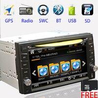 2 DIN Car DVD GPS Navigation Car Stereo AUTO Radio GPS Bluetooth mp5 AM FM USB/SD Universal Player video Steering Wheel Control