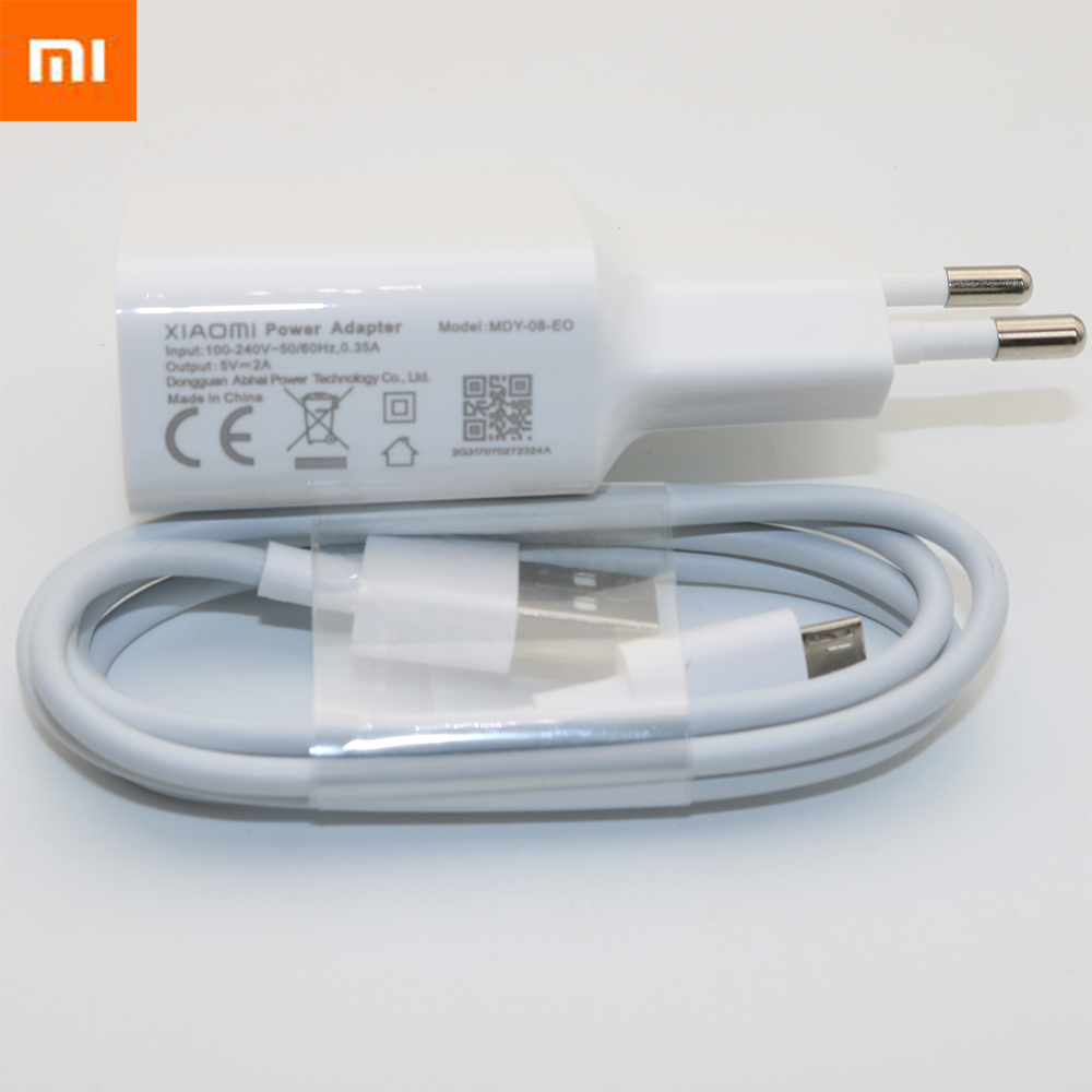 Hot Sale Xiaomi Redmi 5 Plus Charger Original 5v 2a Eu Wall Power Kabel Data Micro Usb 2 3 4 Note Adapter Charge 1m Cable Charging Mi1 Note2 4x