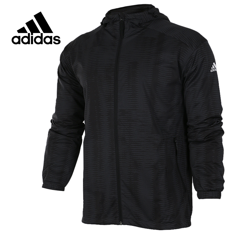 Original New Arrival Official Adidas Men's Windproof Jacket Hooded Sportswear adidas original new arrival official women s tight elastic waist full length pants sportswear aj8153