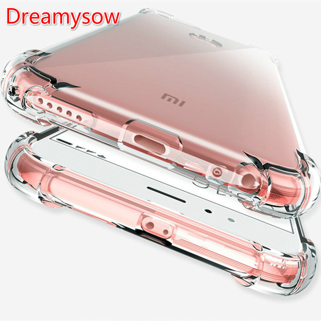 Silicone Shockproof Clear Soft Case for Xiaomi 8 8SE 8Lite 5X Mix 2 Anti-Knock Cases for xiaomi redmi 6 5 plus Note 4x 4A 4X