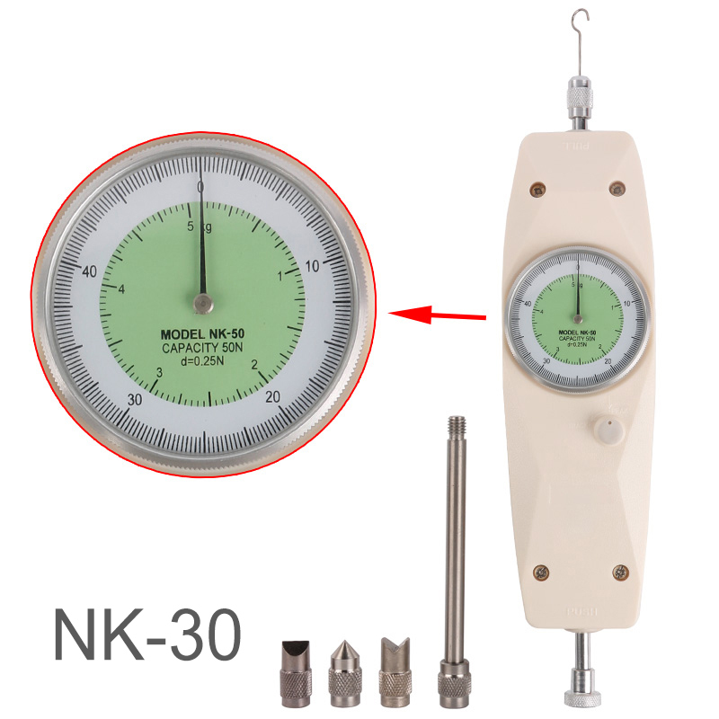 High Quality NK-30 Analog Dynamometer Measuring Instruments Thrust Push Pull Force Gauge Tester Tension Meter цена