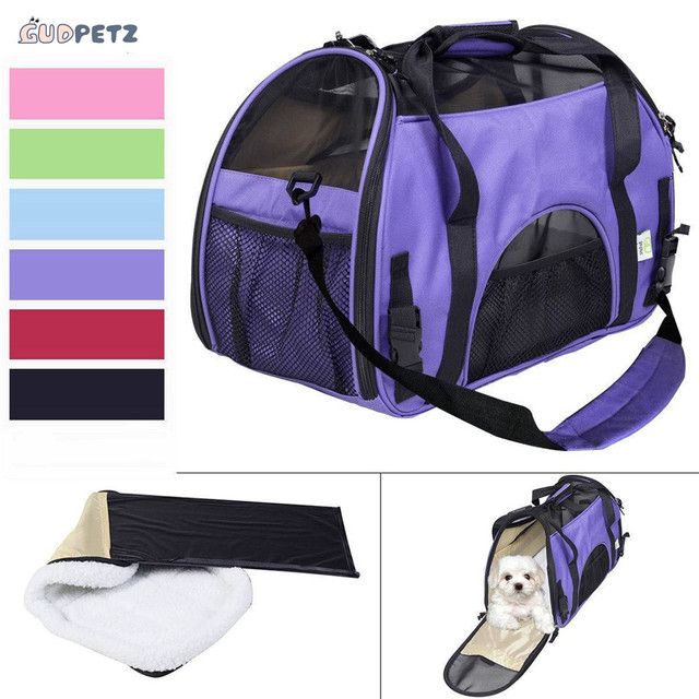 Multifunctional Pet Carrier Carrying Bags For Dogs Cats Portable Dog Bed With Warm Mat Inside Easy