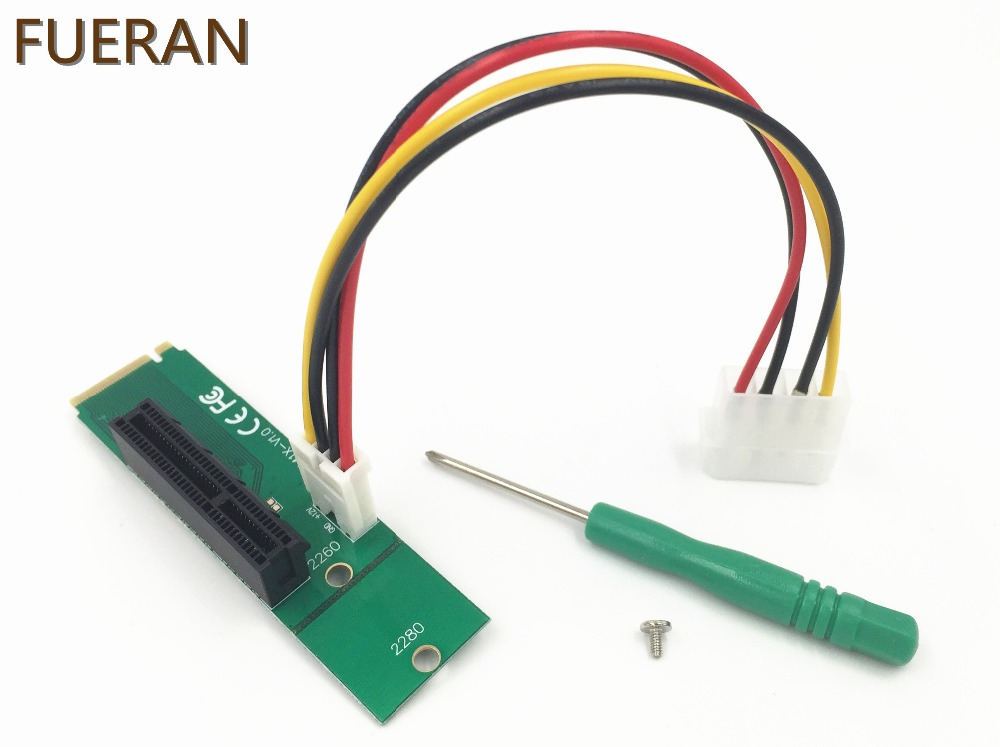 Carte adaptateur FUERAN M.2 NGFF SSD vers PCI-e Express 4X pour PC de bureau