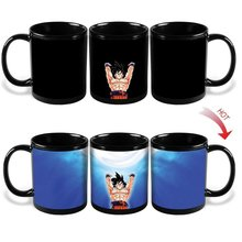 Dragon Ball Z SON Goku Coffee Mug Cup Heat Reactive Color Changing Copo Super Saiyan Milk Coffee Tea Drinkware