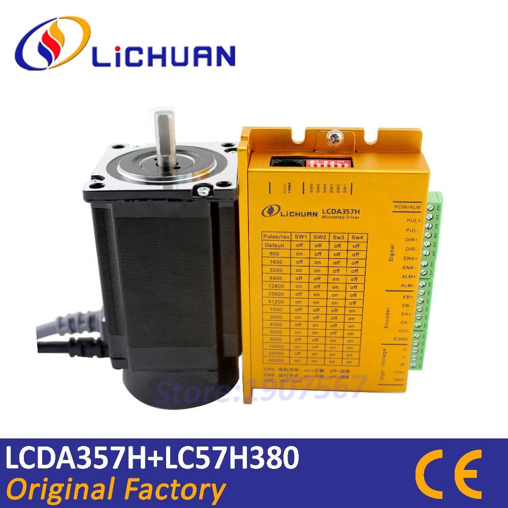 Hot Lichuan 2Nm cnc closed loop stepper motor driver kit Nema23 hybrid step servo closed loop
