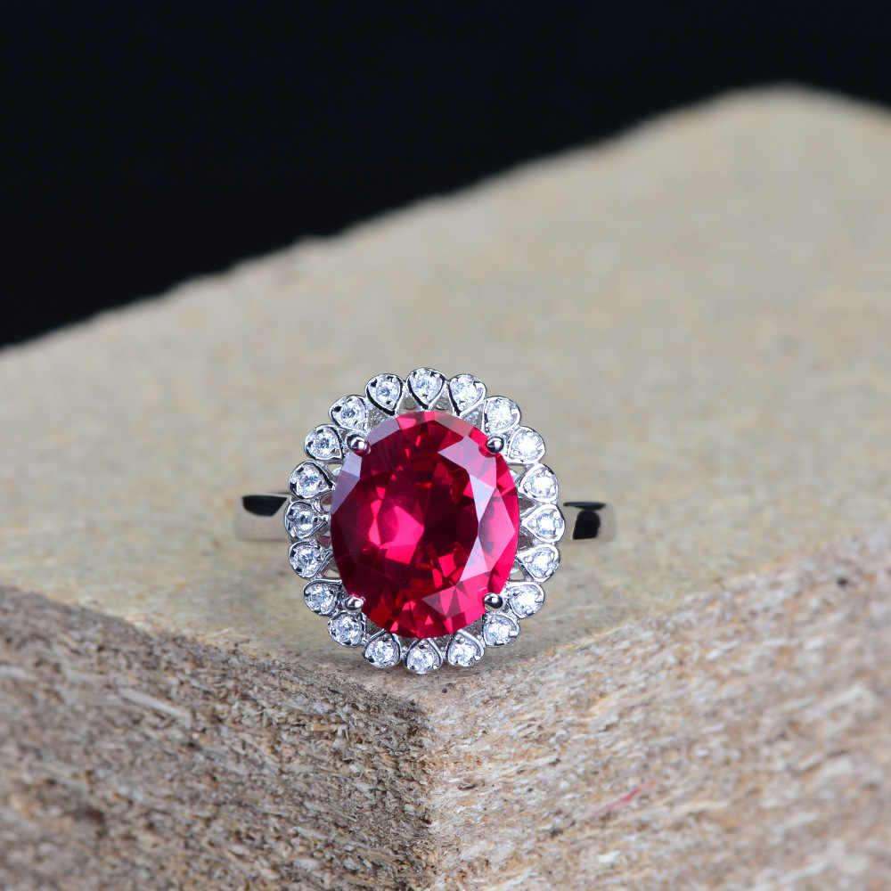 925 เงินสเตอร์ลิงผู้หญิง Sapphire Sapphire แหวนเงิน 925 Designer เครื่องประดับหรูหราแฟชั่นเครื่องประดับงานแต่งงานของขวัญสำหรับ parti