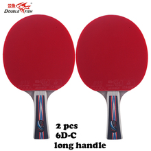 2pcs Double fish 6 Stars 5layers carbon wood table tennis rackets paddles with case bag fast attack loop for all-around players original dhs power g9 pg9 table tennis blade fast attack with loop table tennis rackets racquet sports indoor sports