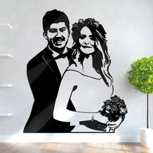 Creative 3D Acrylic custom made INS photo Customized Wedding Wall sticker DIY Character customization wedding Gifts