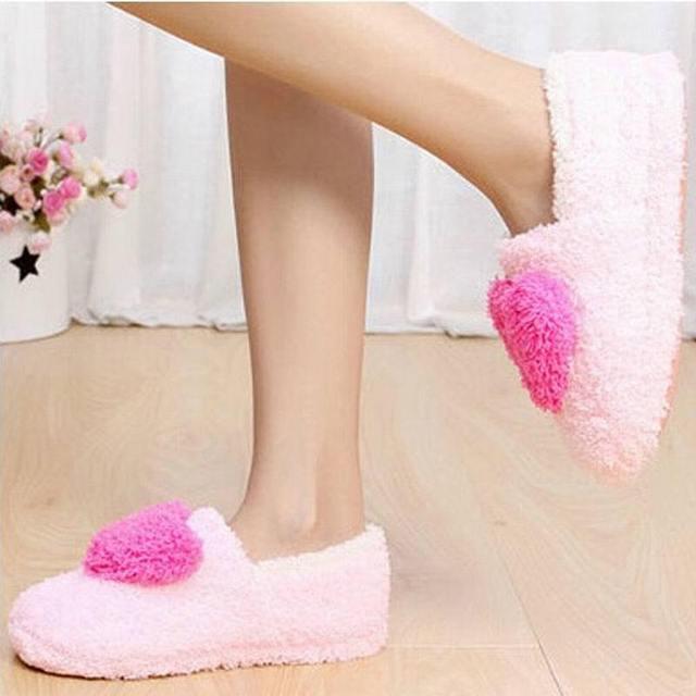 Розничная! Милые дамы домой этаж женщины домашняя подошва хлопка - мягкие туфли женский кашемир теплый свободного покроя обувь