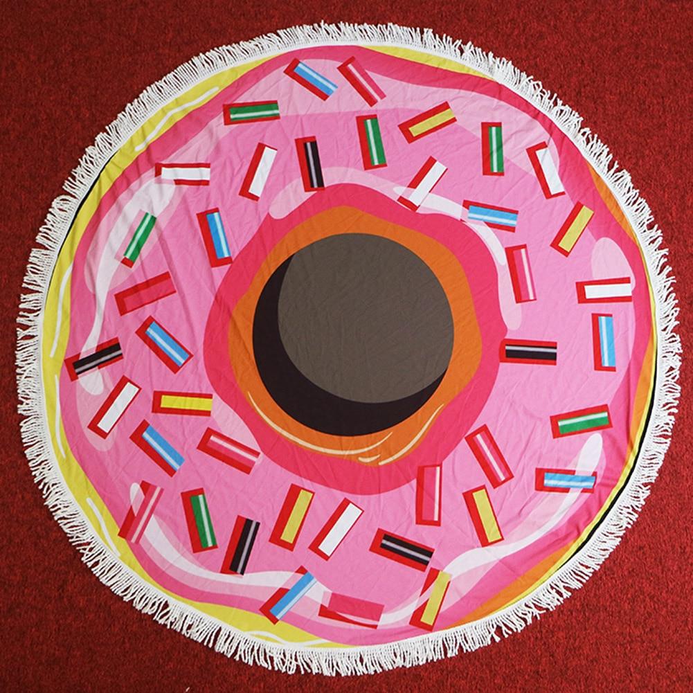 146 cm ronde serviette de plage rose donut grande. Black Bedroom Furniture Sets. Home Design Ideas