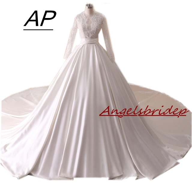 Traditional Wedding Gowns With Long Sleeves: ANGELSBRIDEP Vestido De Novia Traditional Chiffon Wedding
