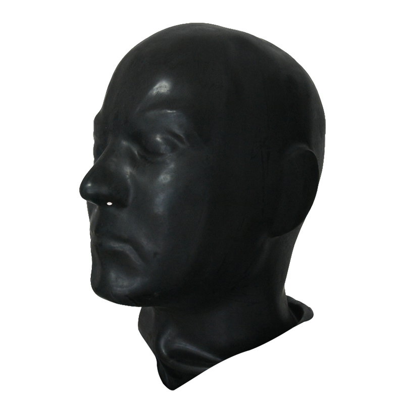 3D mould rubber latex human mask fetish Latex full head human Anatomical male mask fit for haead 59-62cm