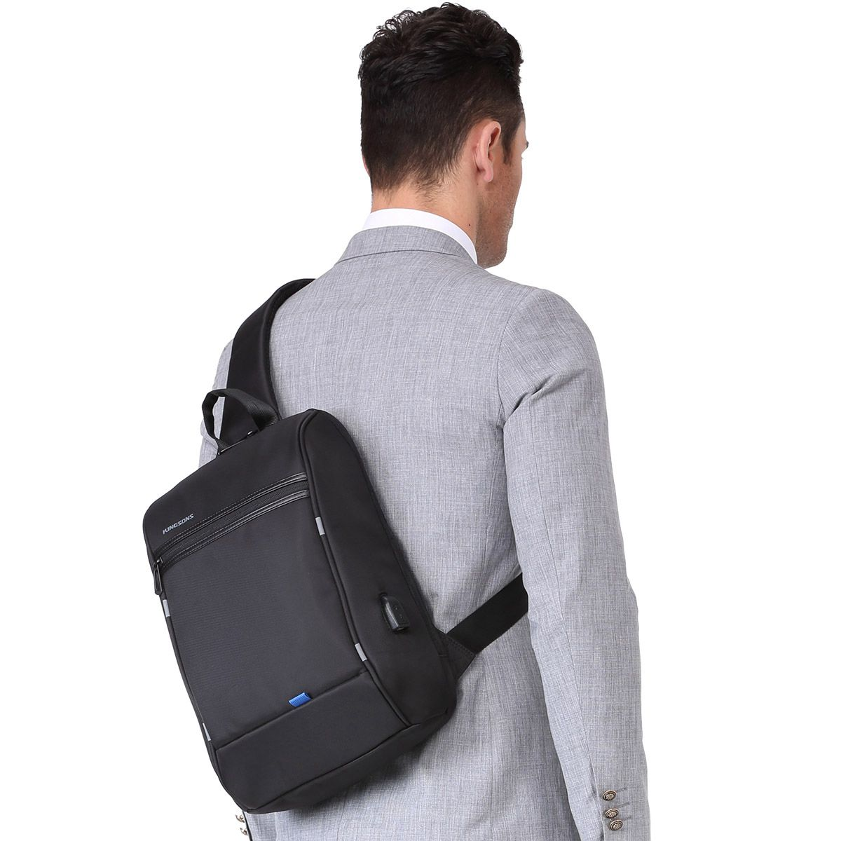 Kingsons Crossbody Bags For Men Messenger Chest Bag Casual Bag Anti-theft Usb Charging Single Shoulder Strap Bags