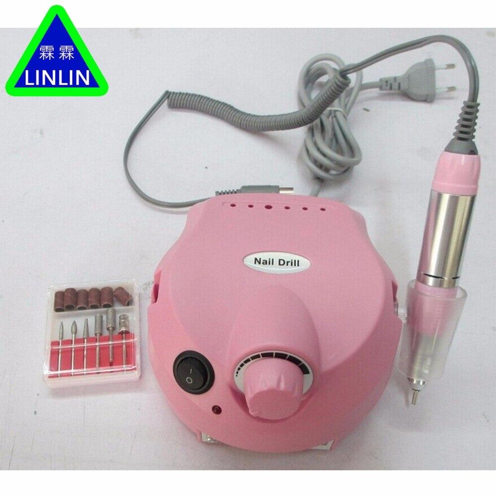 25000RPM Pro Acrylic Electric Nail Drill Machine Manicure Pedicure Nail Drill Bits Sanding Band File Salon