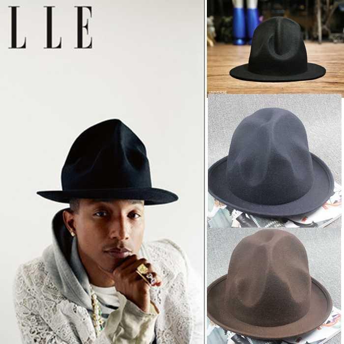 5604b817d Women Men 100% wool Vivianwestwood Fedora hat Felt Mountain Hat ...