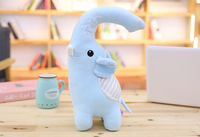 small cute plush blue elephant toy stuffed cartoonsoft elephant pillow doll gift about 40cm 2955