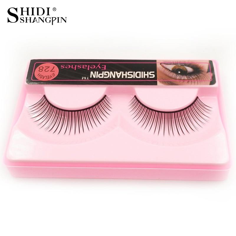 1 Pair Women Makeup Natural False Eyelashes Makeup Eyelash Extension Synthetic Hair Lashes Make Up Traveling Kit