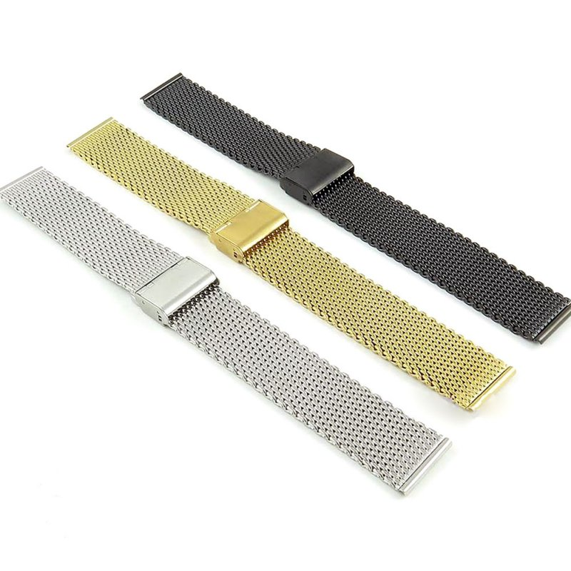 18-24mm Replacement Band Strap Stainless Steel Watch Mesh Bracelet Strap