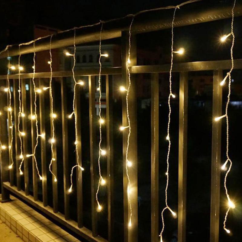 JULELYS 10 x 1M 448 Bulbs AC 110V/220V LED Curtain Wedding Lights Outdoor Christmas Garland Window Lights Decoration For Holiday развивающая игрушка happy baby музыкальный молоток magic hammer