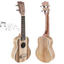 21 Inch Soprano Ukulele 15 Fret Four Strings Zebra Wood Guitar Ukelele Musical Stringed Instrument zebra 6 strings 38 inch folk acoustic electric bass guitar guitarra ukulele with case box for musical stringed instrument lover