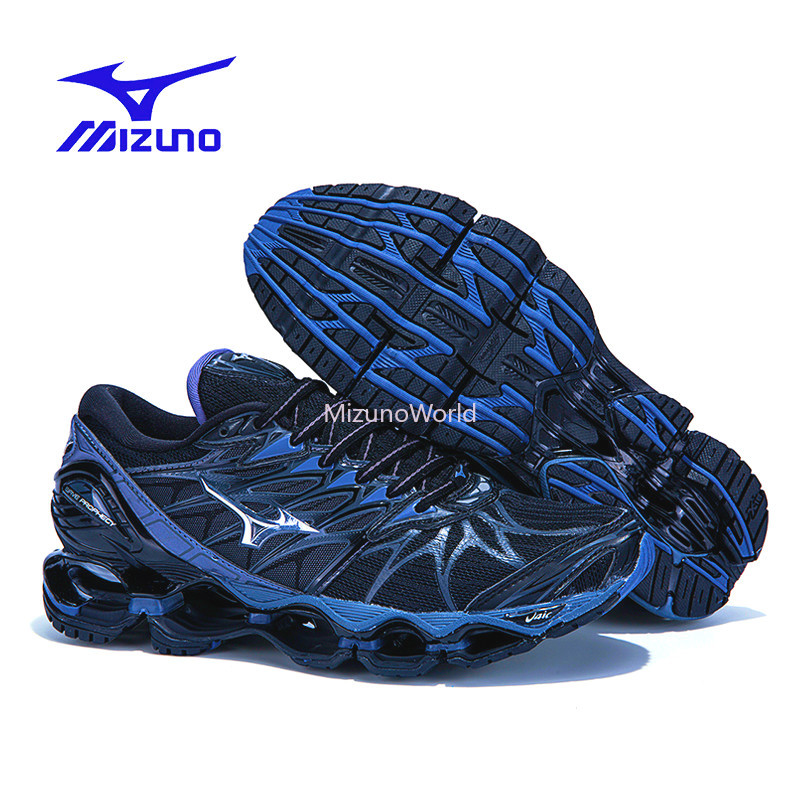 Mizuno Wave Prophecy 7 Professional sports Men Shoes 2019 Original Black outdoor Air Cushioning Weight lifting Shoes Size 40-45Mizuno Wave Prophecy 7 Professional sports Men Shoes 2019 Original Black outdoor Air Cushioning Weight lifting Shoes Size 40-45
