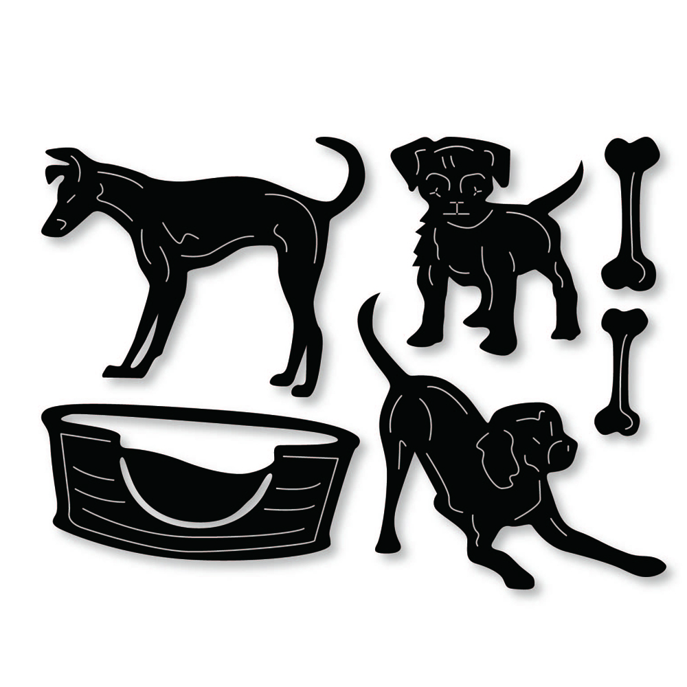 dog with bones scrapbook cuttings dies metal die cuts for diy scrapbooking qw