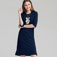 Women Casual Night Dress Sleepwear Built in Bra Padded 1/3 Sleeve Cartoon Print Nightgown L