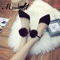 2016 primavera outono moda de nova mulheres de peles bombas preto coisa sapatos de salto alto senhora do escritório de trabalho sapatos sexy partido das meninas sapatos