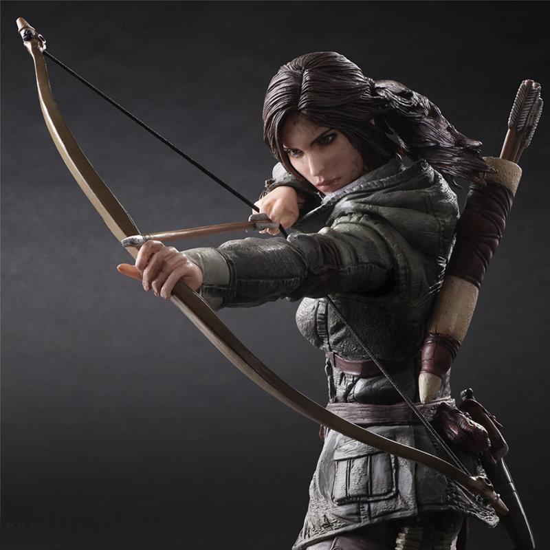 26cm Play Arts Kai Movable Figurine Rise of The Tomb Raider Lara Croft PVC Action Figure Toy Doll Collection Model Gift pop figurine collection toy figure model doll