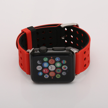 Two Sides Sports Silicone Watch Band 38 42mm for Apple Watch Series 1 2 Comfortable Holes