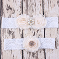 Wholesale Sexy Wedding Accessories Wedding Garters Blue Bridal Lace Leg Garter Cinta Liga Porte Jarretelles Hot Leg Ring 50 set
