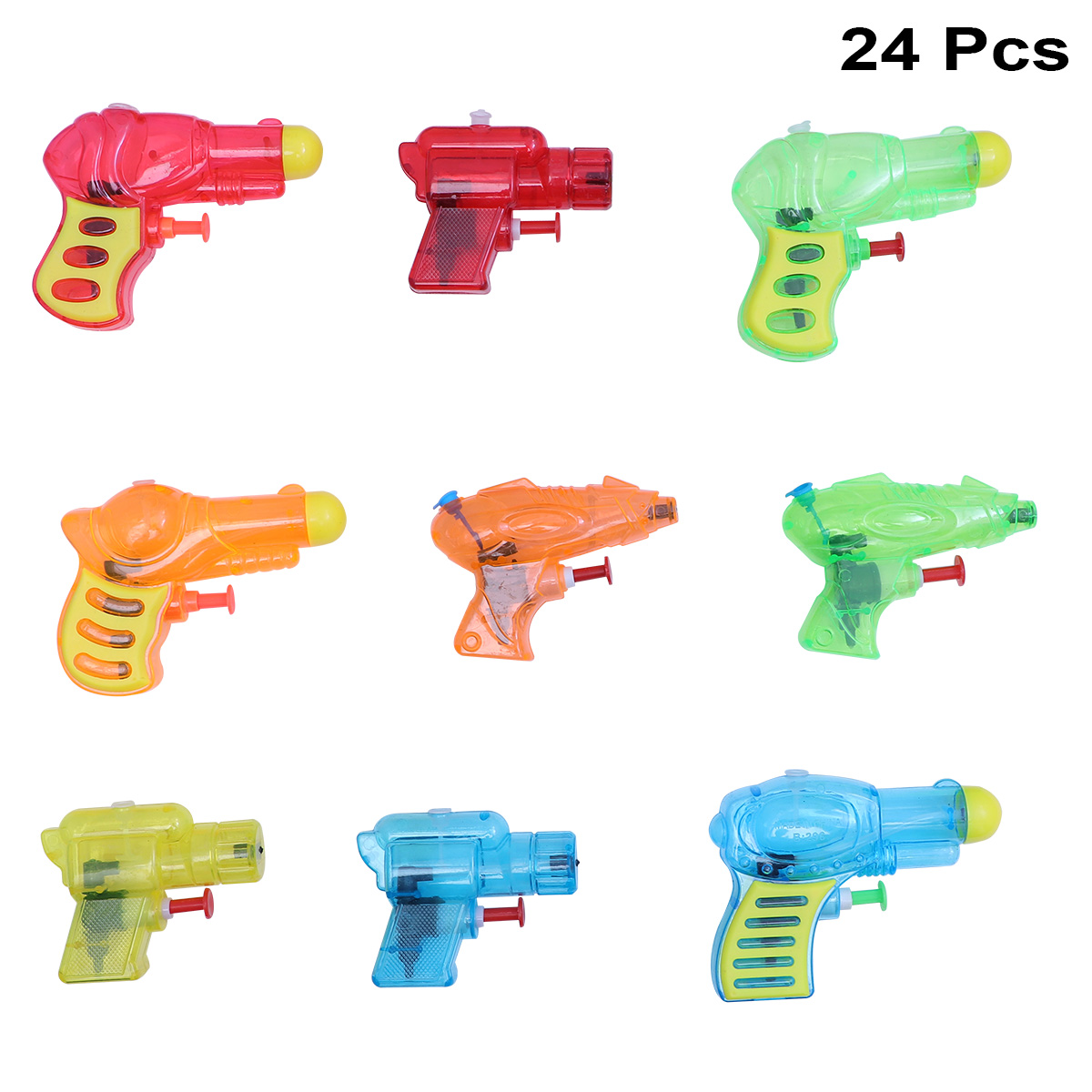 24pcs Water Gun Water Playing Portable Convinent Small Pressure Water Gun for Playing