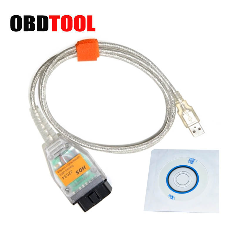 For Honda HDS J2534 Auto Diagnostic Cable Via OBD-II Connector High Performance Pass-thru Diagnostic Tool JC10