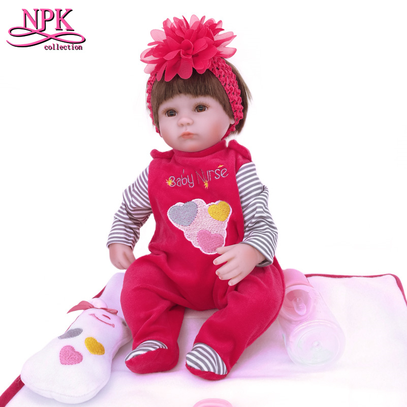40CM/16 Inches Realistic Reborn Doll Silicone Dolls Babies Toys for Girls Toy Birthday Gift,Cute Soft Newborn Doll with Clothes