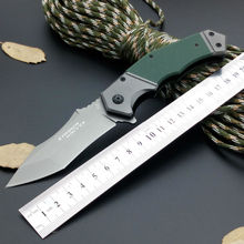 Hot Strider Folding Knife Titanium Coating Blade G10 Handle Survival Knife Hunting Tactical Knives Pocket Camping Outdoor Tools