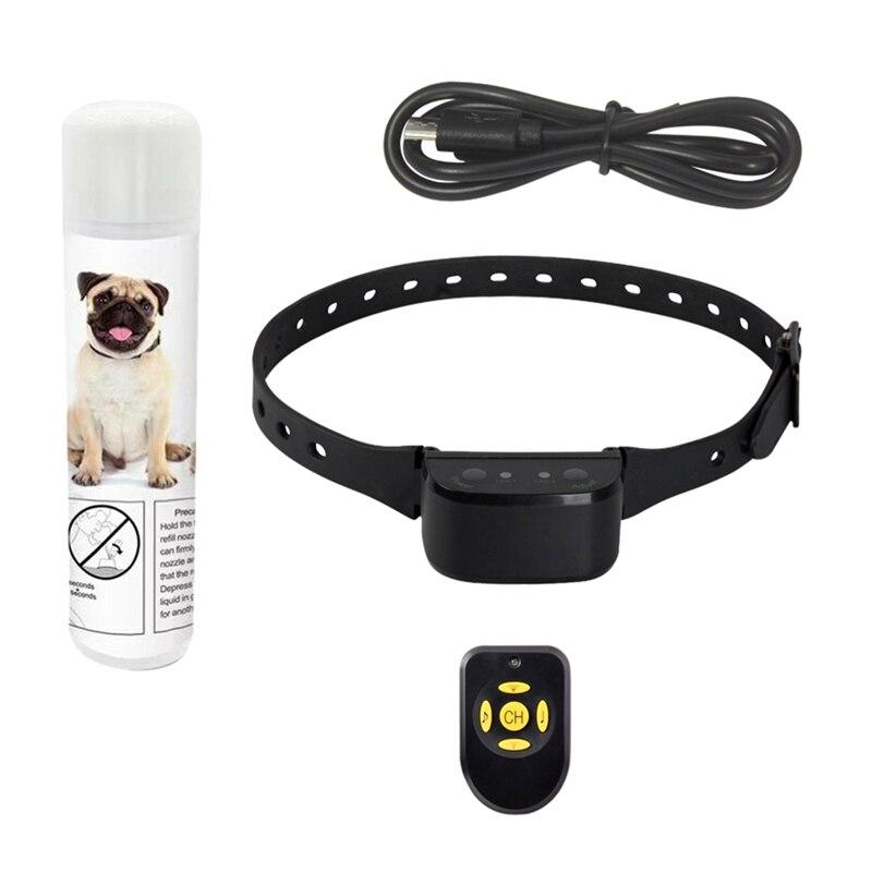 Pet Ошейник для дрессировки собак Анти лай водонепроницаемый сейф и автоматический анти лающее устройство для собак звуковой сигнал перезаряжаемый спрей воротник