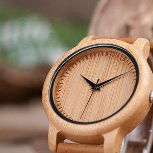 Image 4 - Relogio masculino בובו BORD במבוק גברים שעון עץ משקפי שמש חליפת הווה קופסא מתנת סט נשים שעונים מקבלים לוגו זרוק Shiping