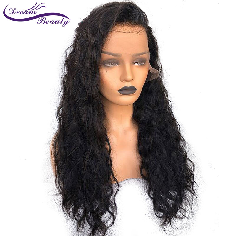 dream beauty Body Wave Lace Front Human Hair Wigs For Women Pre Plucked Brazilian Remy Hair Wigs Bleached Knots Baby Hair