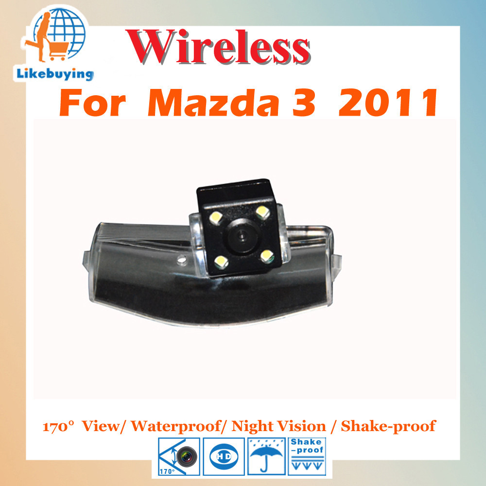 Parking Camera Wireless Camera 1 4 Color CCD Rear View Camera For Mazda 3 2011 Night