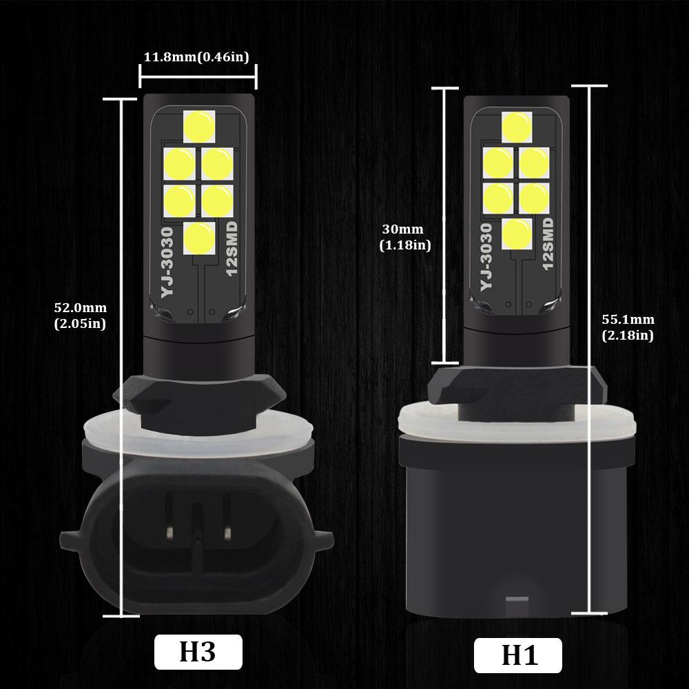 katur H7/80/W COB LED Luce sourse DRL Luci diurne guida nebbia fari lampadina