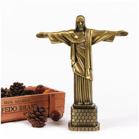 Souvenirs Metal Brazil Crist Redentor Jesus Figurine Christ the Redeemer Statue Jesus Christ Statue Catholic Gift Home Decor