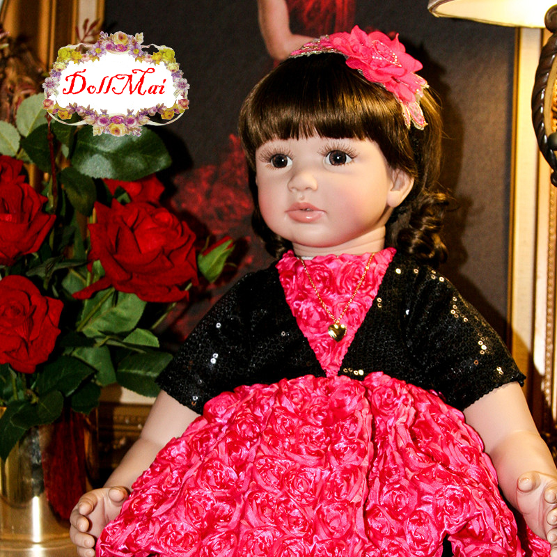 60cm bebe princess reborn dolls Silicone Reborn Baby Doll Toys 24inch  Toddler Girl Babies Doll High Quality Birthday Gift60cm bebe princess reborn dolls Silicone Reborn Baby Doll Toys 24inch  Toddler Girl Babies Doll High Quality Birthday Gift